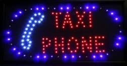 LED blinkende skilt, Taxi/Phone